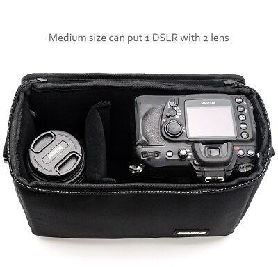 Camera Bag Padded Insert Carry Case Partition For DSLR SLR Canon Nikon Sony Lens 7