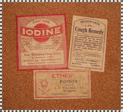 13 POISON VINTAGE LOOK VICTORIAN APOTHECARY LABELS Halloween/Steampunk/Primitive 2