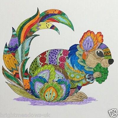 1 Of 10FREE Shipping Animal Kingdom Adult Colouring Book Owl Swan Lion Giraffe Jellyfish Detailed Art