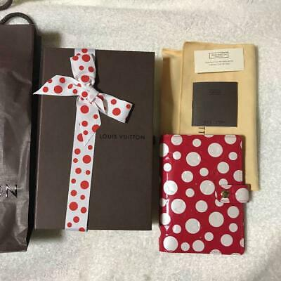 Louis Vuitton Yayoi Kusama Infinity Dots Agenda PM Cover Red New from JPN F/S 2
