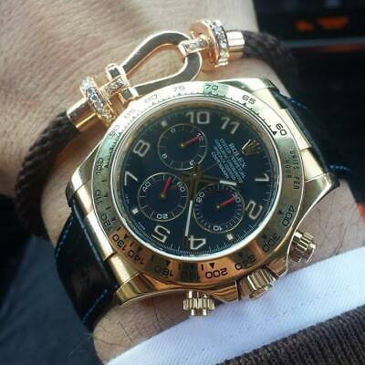 Spezzoni cinturino pelle per Rolex Daytona oro 20mm Made in Italy 7
