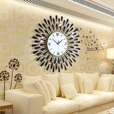 LUMINOUS GLOW IN The Dark Bedroom Wall Clock Black Decorative Clocks ...