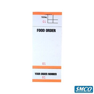 5 Food Order Pads Numbered 1-100 Coloured Bar Restaurant Waiter Book Pads BF84 2