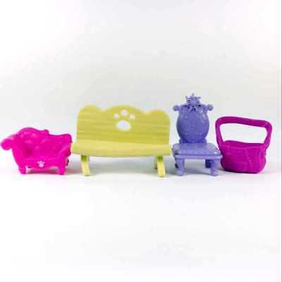 Random 10pcs Littlest Pet Shop LPS Parts Accessories Playset  Bay chair plates 6