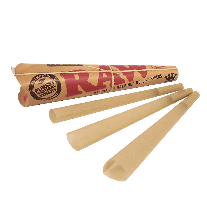 4x RAW Pre-Rolled Classic Cones - Total 12 Cone Papers King Size Joint Blunt 3