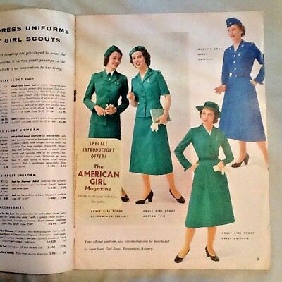 1954 CATALOG SPRING Girl Scout Uniforms Equipment Jewelry History Collector GIFT