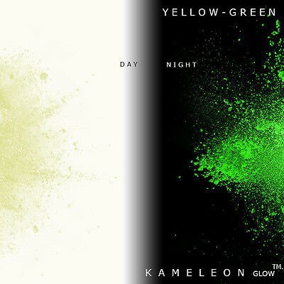 Glow in the Dark Powder (Yellow - Green) 3