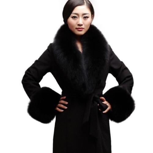 04b6453d42b Chic Echarpe Châle Etole Femme Fourrure Vraie de Renard Col de Parkas Velu  Noir 4 4 sur 4 Voir Plus