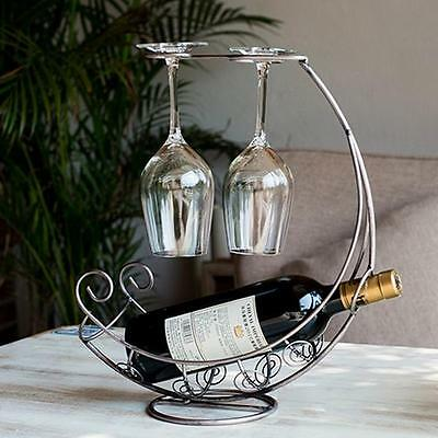 Metal Wine Rack Bracket Bottle Holder Barware Kitchen Decorate NA 5 • AUD 29.99