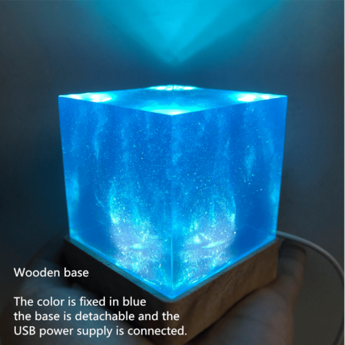 Avengers Thanos Tesseract Cube LED Light Infinity War Cosplay Props + Base 6.5cm 9