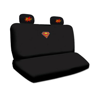 1 Of 10FREE Shipping Ultimate Superman Car Seat Covers POW Logo Headrest Mats Set For Nissan