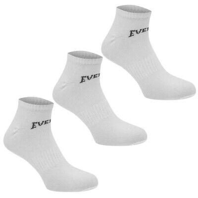 3 Pack Boys Girls Low Cut Ankle Trainer Socks Sizes C8-C13  Junior 1-6 8