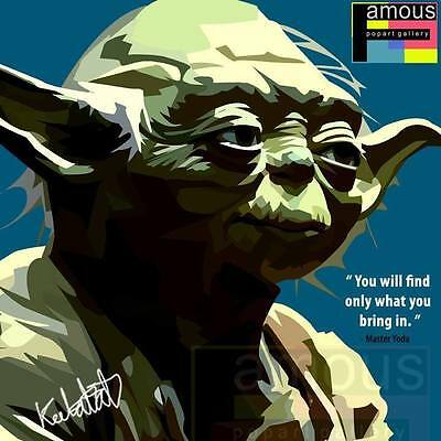 MASTER YODA CANVAS quotes wall decals photo painting framed pop art ...