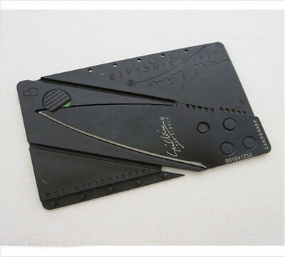 New Cardsharp Credit Card Folding Razor Sharp Wallet Knife survival tool thin U