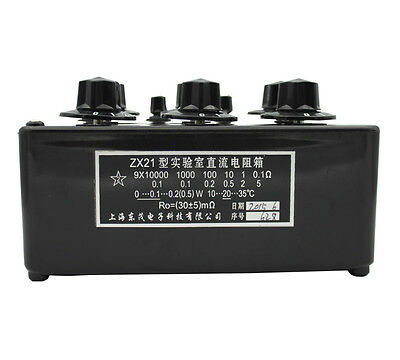 ZX21 Precision Variable Decade Resistor DC Resistance Box 0.1R to 99.9999kR 6