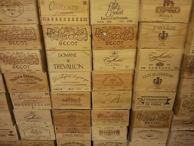 1 X Genuine French Wooden Wine Box Bookcase / Shelves / A4 Paper Storage Archive 2