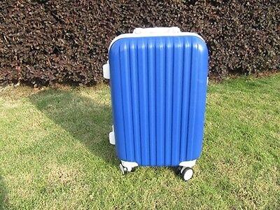 1X 24 Inch Dark Blue Universal Wheel Lock Travel Suitcase Luggage Bag 2