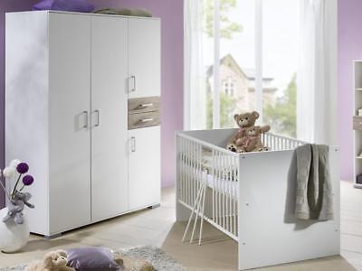 BABYBETT BABYZIMMER KOMPLETT Kinderwagen Wickelkommode Kinderzimmer ...