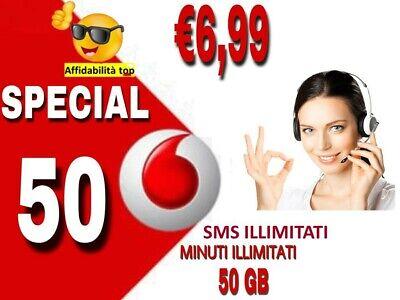 Passa Vodafone  Special 7€ 50Gb Minuti Sms Illimitati Corriere Gratuito---- 6