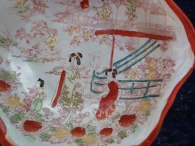 Kutani Geisha Set Of Four Serving Bowls Vintage Japanese 9