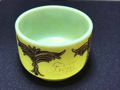 "Antique custard souvenir glass "" 1912 From Father"" 4"