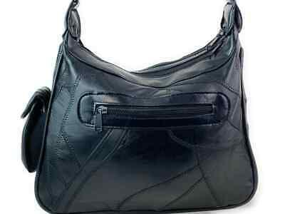 Real Leather Handbag Cross Body Long Shoulder Strap Women Black Travel Work 11