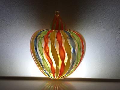 Ribbon art glass apple perfume bottle 2