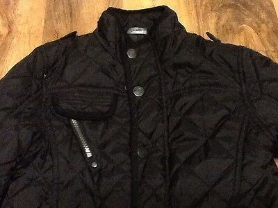 Black Quilted Girls School Jacket Aged 7-8 Years Old (122-128cm) 2