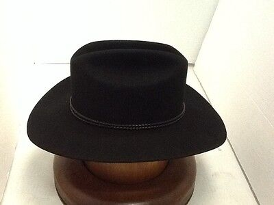 3 3 of 12 Stetson Cowboy Hat 4X Beaver Fur BLACK Carson With Free HAT  Brush+No Tax Sale 1ccf08a047a