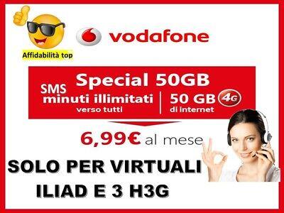 Passa Vodafone  Special 7€ 50Gb Minuti Sms Illimitati Corriere Gratuito---- 9