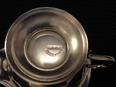 Pretty 12 Sided Silver Plate Cream Jug. Sheffield. 8