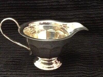 Pretty 12 Sided Silver Plate Cream Jug. Sheffield. 5