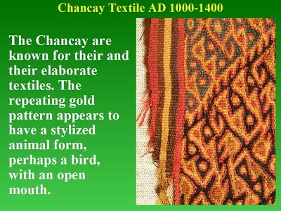 Pre-Columbian Chancay Textile Fragment AD1000-1400 SUPERB museum quality nice 8