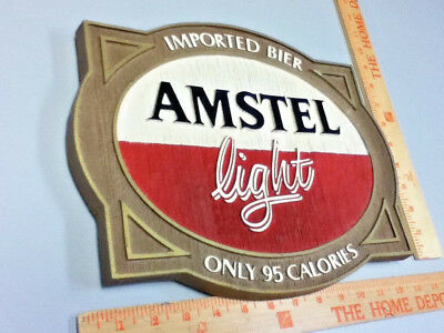 Amstel light beer sign imported holland breweries vintage old wall tacker Ml81 8