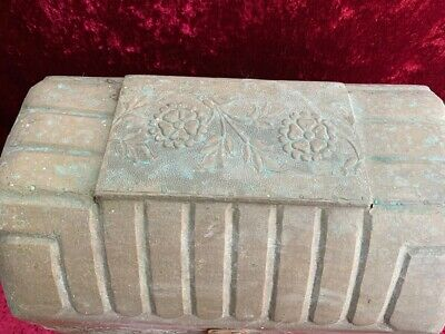 Antique Decorative Brass and Timber Wood Treasure Chest Trunk Wine Bottle Box 10