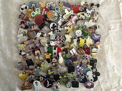 Disney Pins 100 Different Pins Mixed Lot Fast Shipping By Usa Seller
