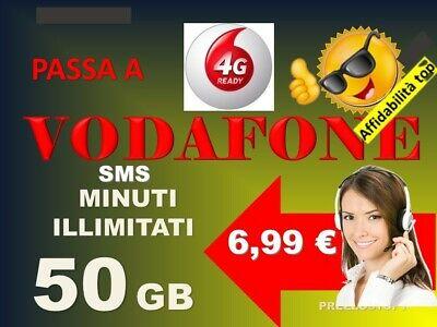 Passa Vodafone  Special 7€ 50Gb Minuti Sms Illimitati Corriere Gratuito---- 4