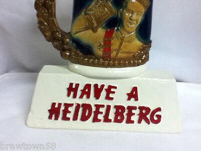 Heidelberg beer sign stein mug bar chalkware statue chalk display Columbia CN4 3
