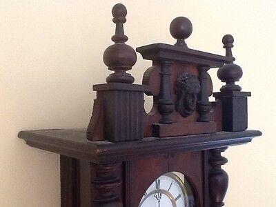 Antique German Pfeilkreuz Wall clock with R=A Pendulum c.1900 2
