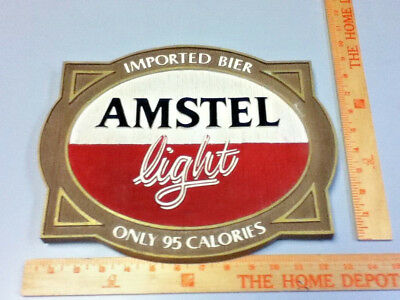 Amstel light beer sign imported holland breweries vintage old wall tacker Ml81 2