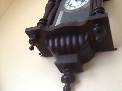 Antique German Pfeilkreuz Wall clock with R=A Pendulum c.1900 10
