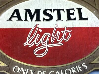 Amstel light beer sign imported holland breweries vintage old wall tacker Ml81 7
