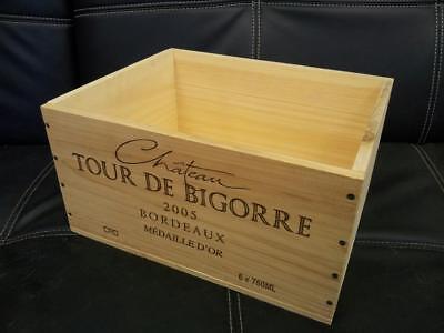 6 x GENUINE FRENCH WOODEN WINE CRATES BOXES  PLANTER HAMPER DRAWERS STORAGE..... 7