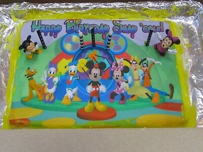 Super Mickey Mouse Clubhouse Birthday Cake Topper Edible Icing Image Personalised Birthday Cards Petedlily Jamesorg