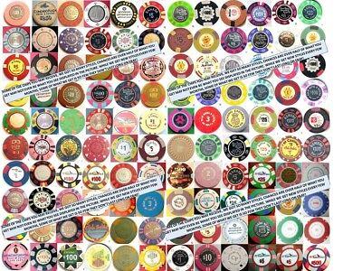 MEGA Set 131 PUERTO RICO CASINO New & Vintage POKER CHIP COLLECTION +Bonus Lot 7
