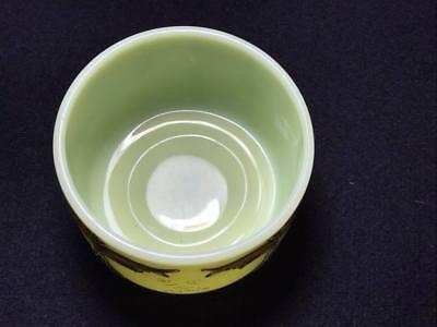 "Antique custard souvenir glass "" 1912 From Father"" 9"