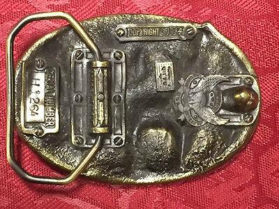 VINTAGE 1984 TWO BUCKS Serial # H1264 BELT BUCKLE Made In U.S.A. 2