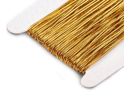 24m Gummifaden Beilauffaden Gummiband 1mm Gummikordel gold silber rot 0,15€//m