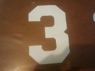 iron on heat transfer numbers $1each soccer football WHITE 1 - 20 shirts touch