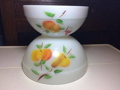 Vintage Gay Fad Colonial Band Fire king Mixing Bowls 3